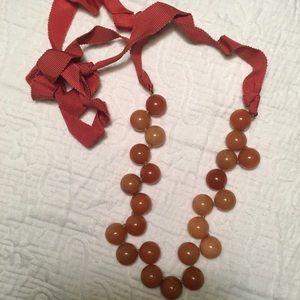 J.Crew Orange Bobble Necklace